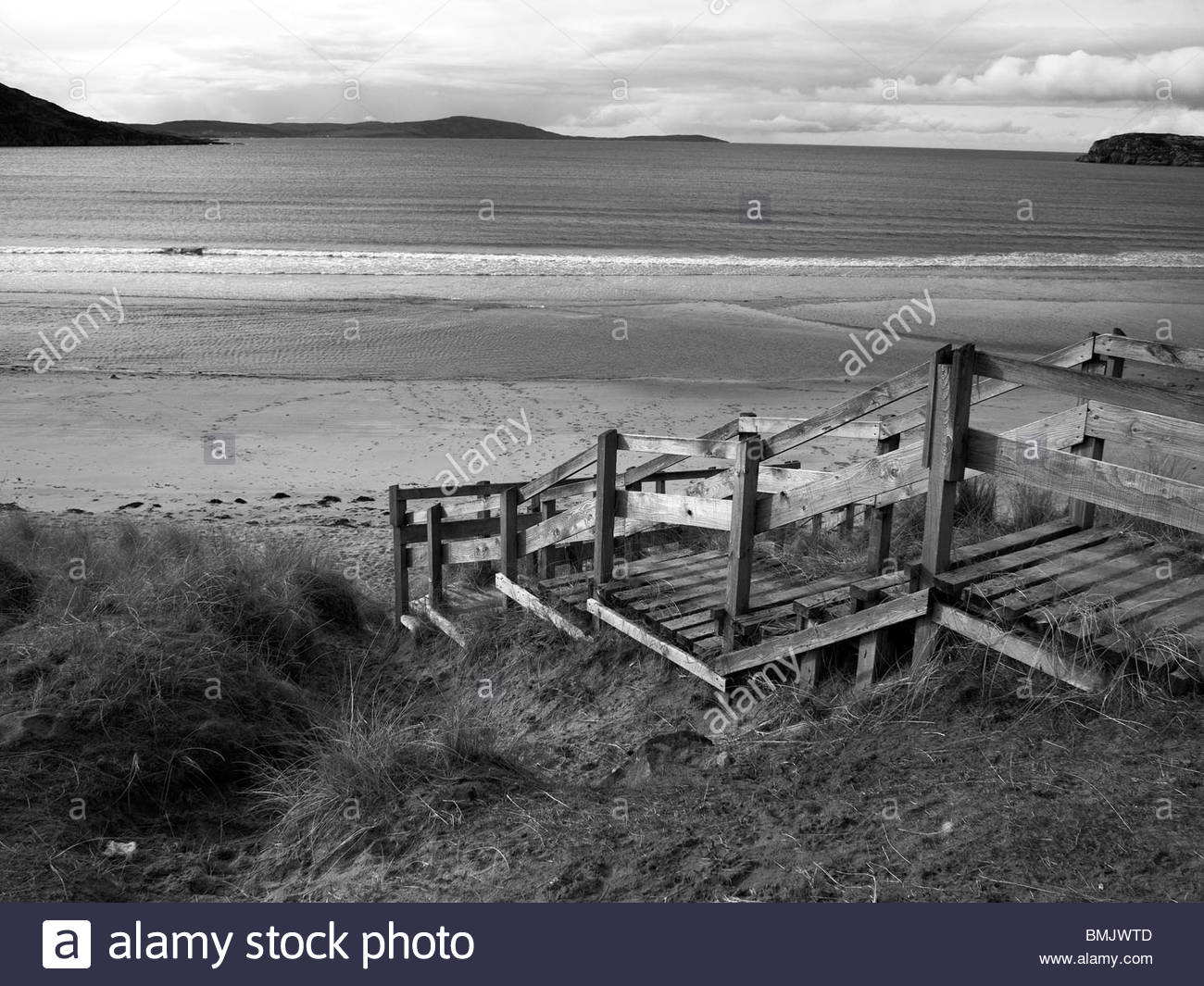 Gruinard  Bay and Beach, nr Laide, Wester Ross, NorthWest Scotland on the north coast 500 route - Stock Image