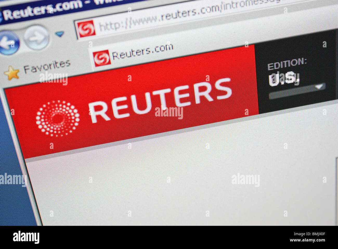 reuters US online website global headline news - Stock Image
