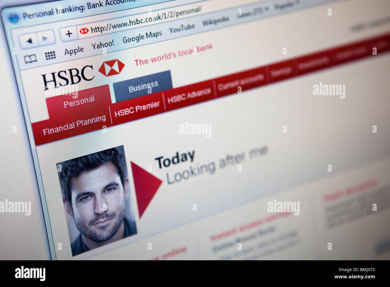 Hsbc Online Banking Website Stock Photos & Hsbc Online Banking