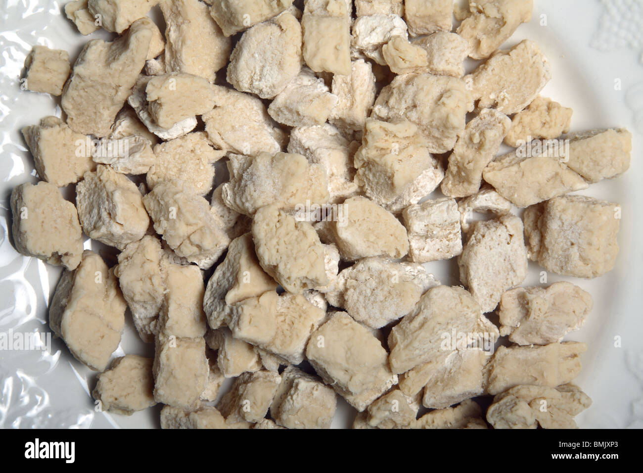 Raw Quorn, a meat substitute. - Stock Image