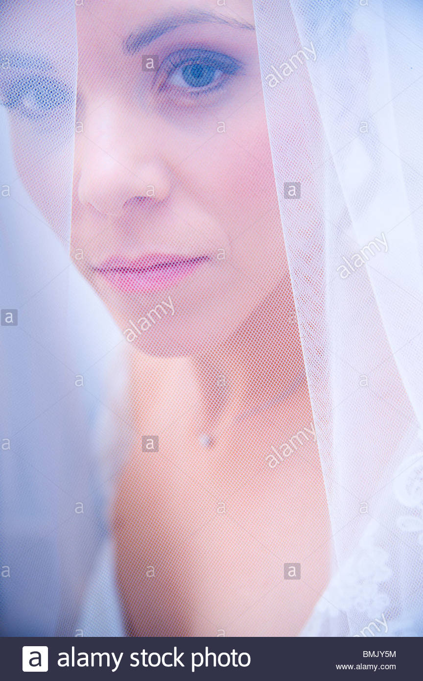 Behind Wedding Veil Stock Photos & Behind Wedding Veil Stock Images ...