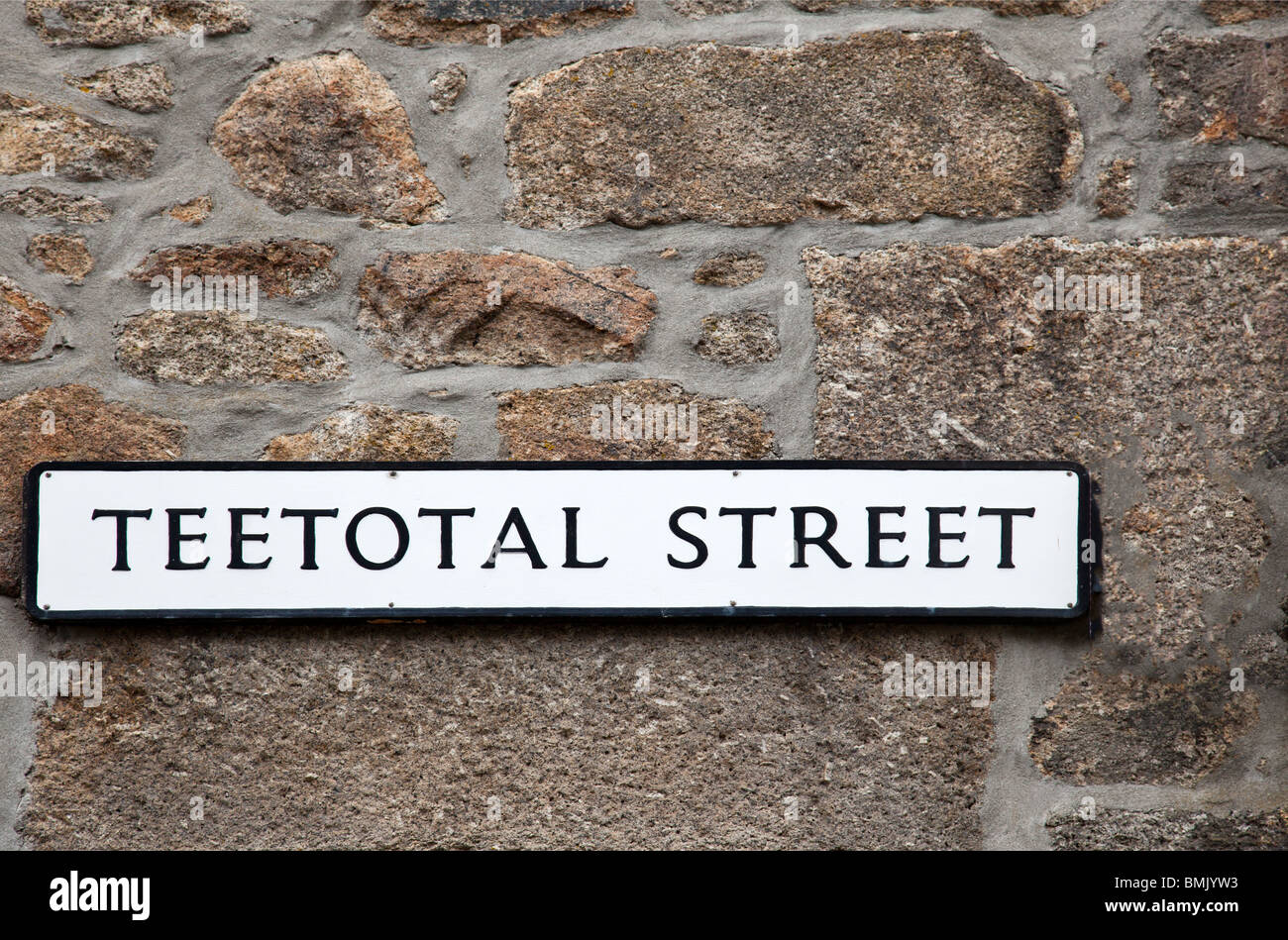 Teetotal Street Sign - Stock Image