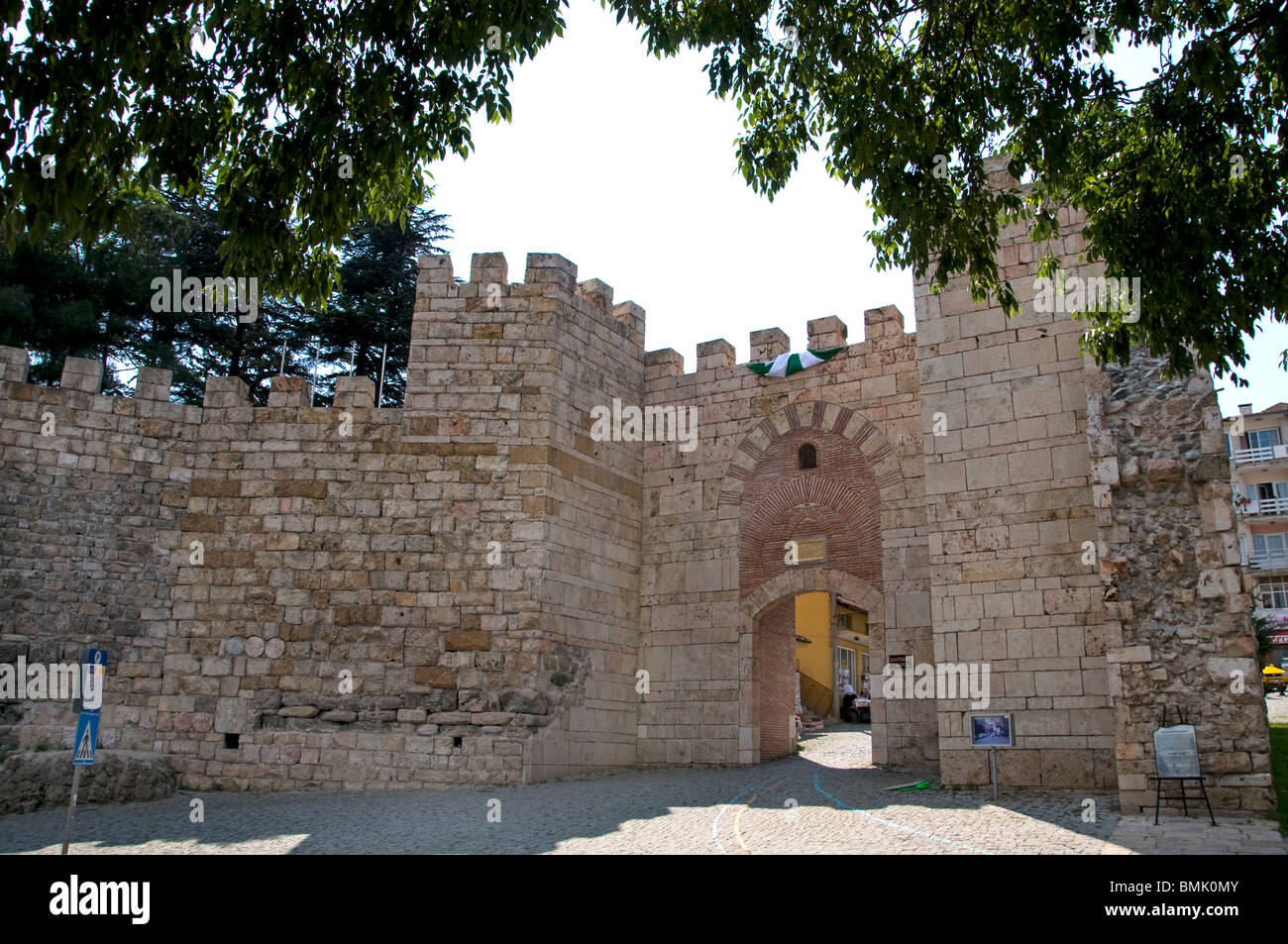 Bursa Turkey Anatolia Gate of the Rule City wall - Stock Image