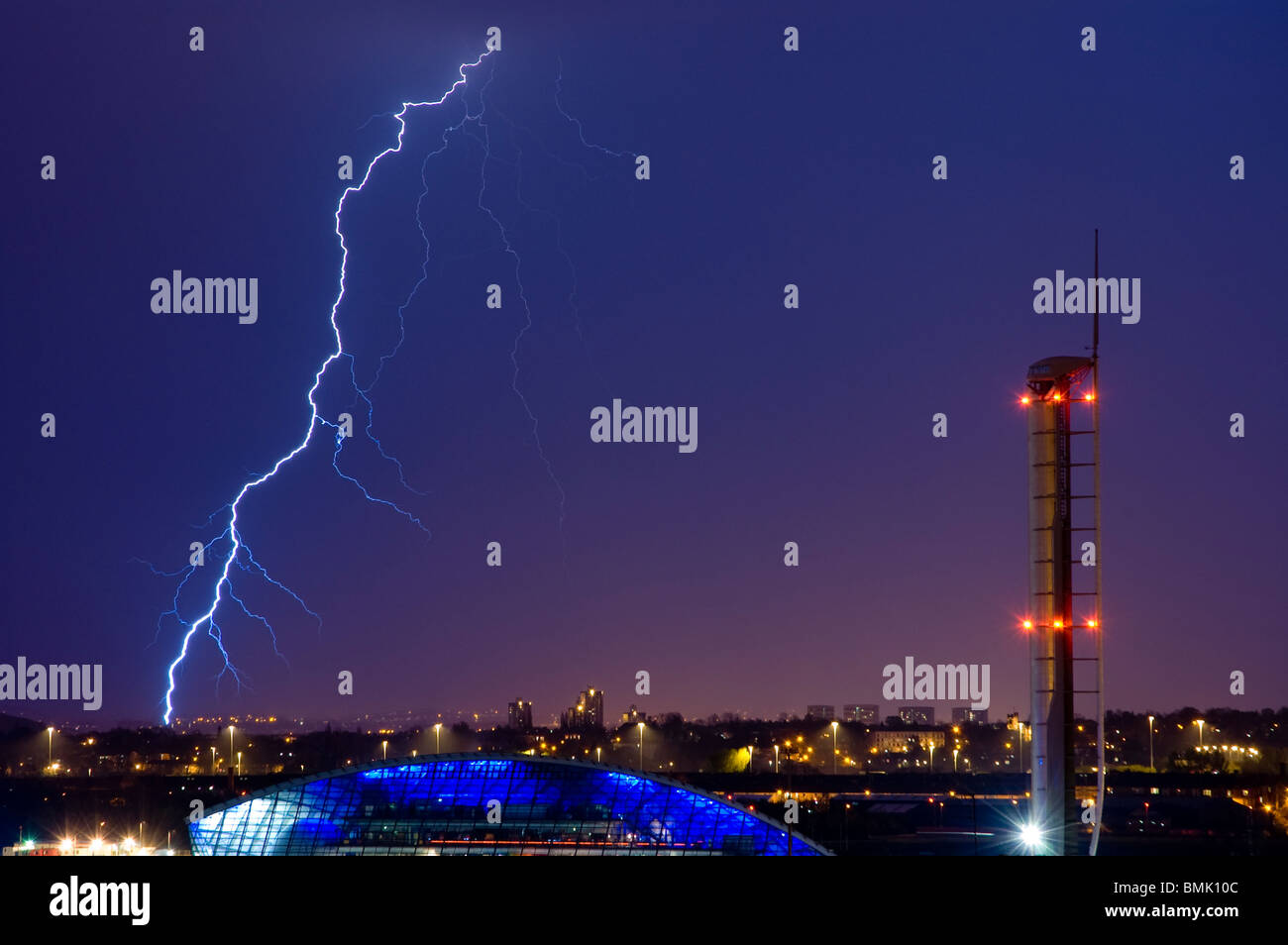 Lightning Storm Glasgow UK