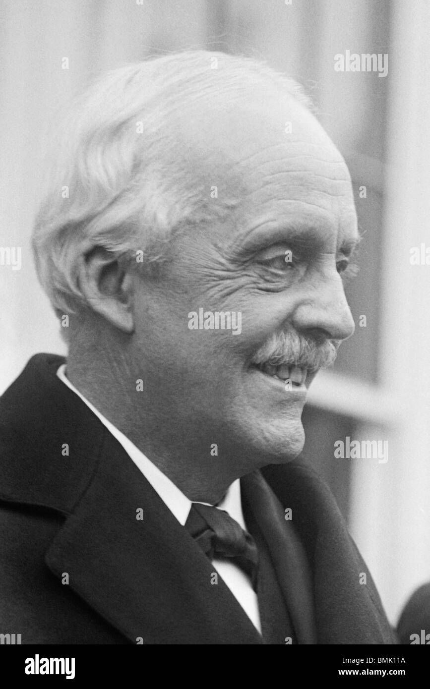 Photo of Arthur Balfour (1848 - 1930) - Conservative statesman and British Prime Minister from 1902 to 1905. - Stock Image