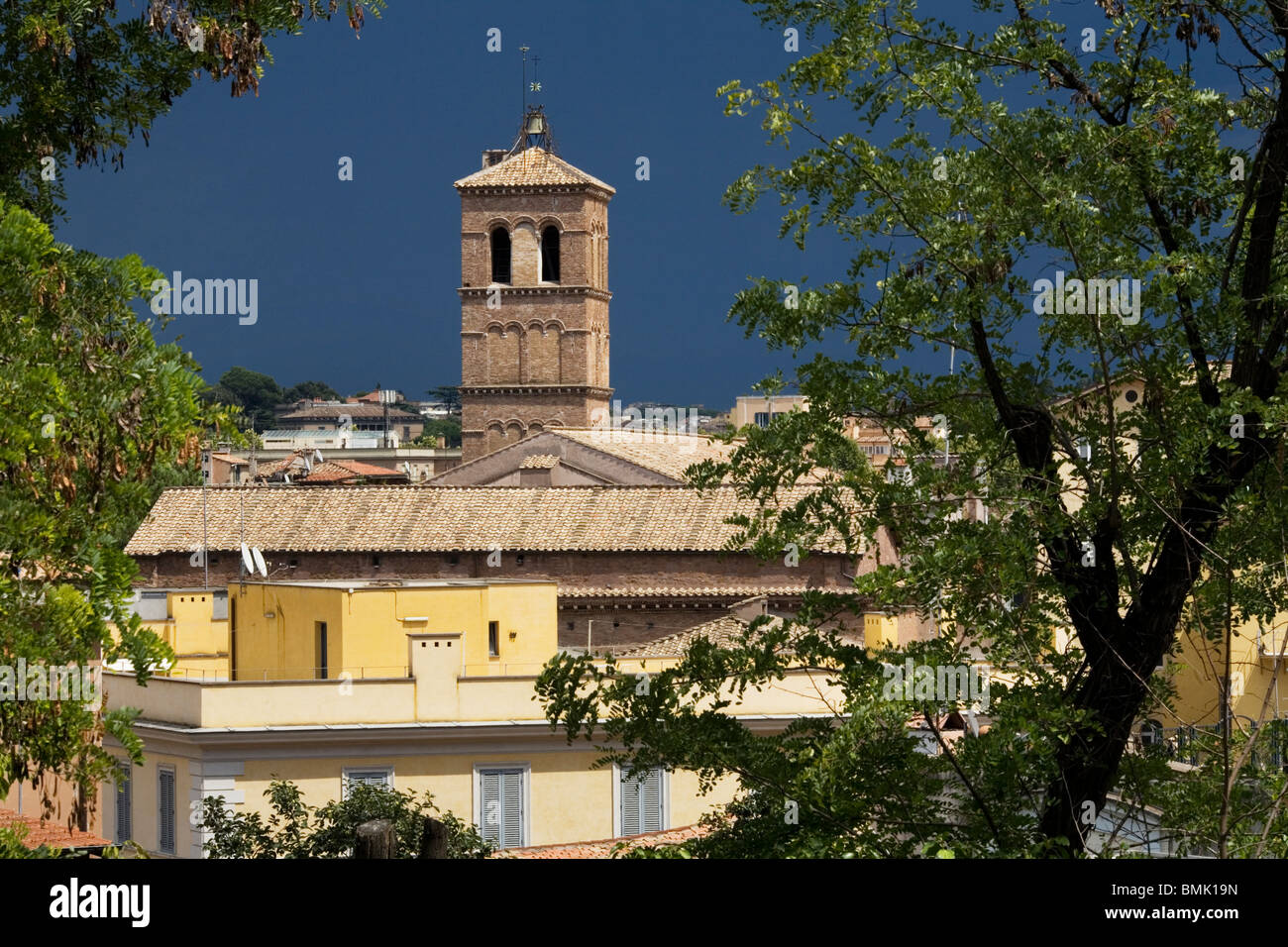 Townscape at Monte Gianicolo, Rome, Italy - Stock Image