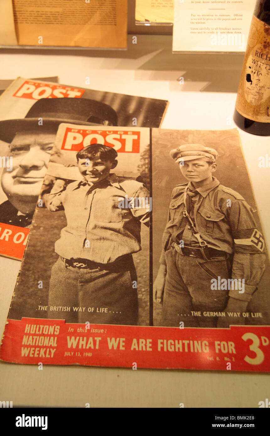 A World War 2 'Picture Post' magazine on display at the Imperial War Museum North, Salford Quays, Manchester, - Stock Image