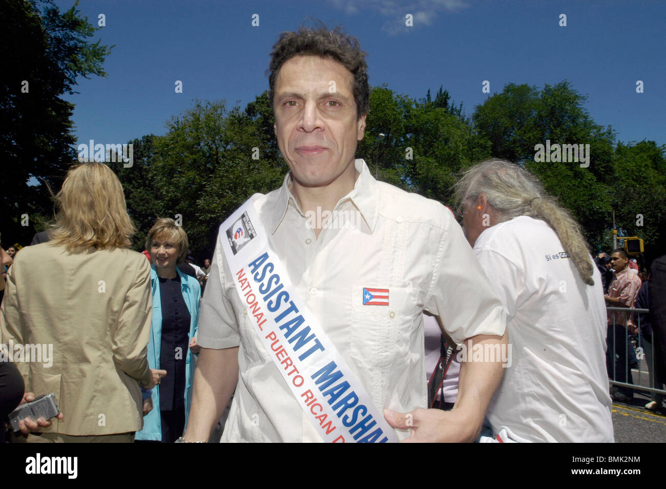 Andrew Cuomo candidate for NYS Attorney General in the 2006 Puerto Rican Day Parade on June 11, 2006. (© Frances - Stock Image