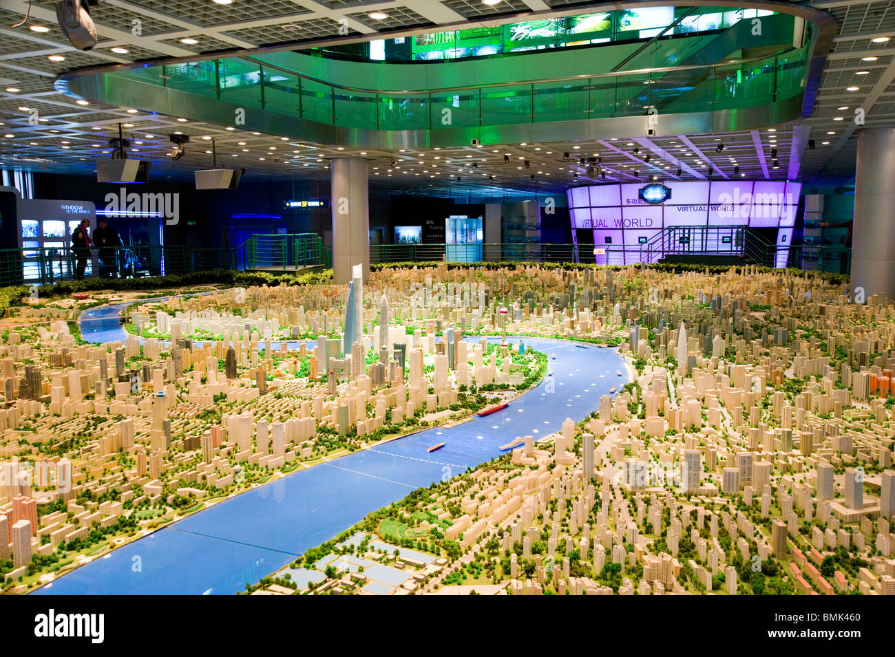 Scale model of the city in the Shanghai Urban Planning Museum - Stock Image