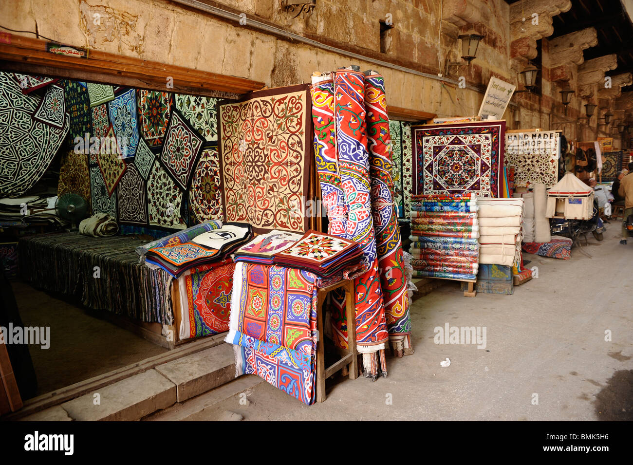 Tentmakers Bazaar (Souq Al-Khiamiyya), Cairo, Egypt Stock