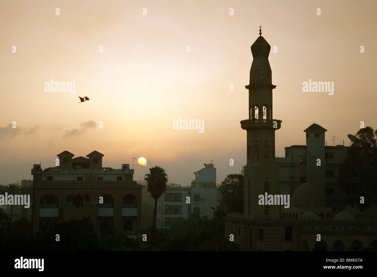 Sunrise over Cairo, Egypt, Africa - Stock Image