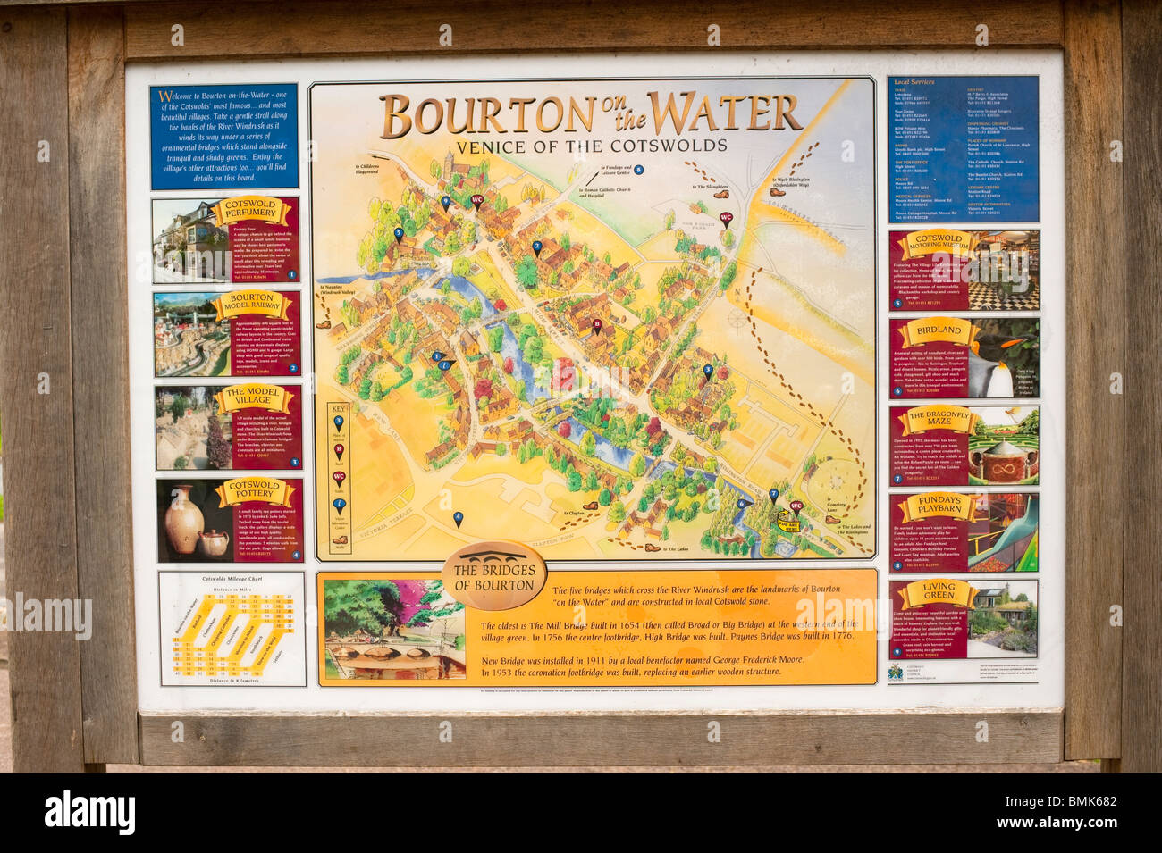 Bourton On The Water Map Village Map of Bourton On The Water The Cotswolds Gloucestershire  Bourton On The Water Map
