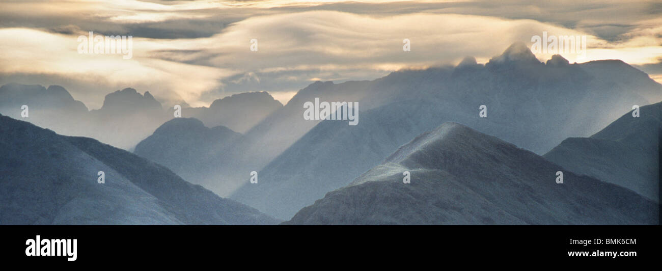 The Black Cuillin Ridge, Isle of Skye - Stock Image