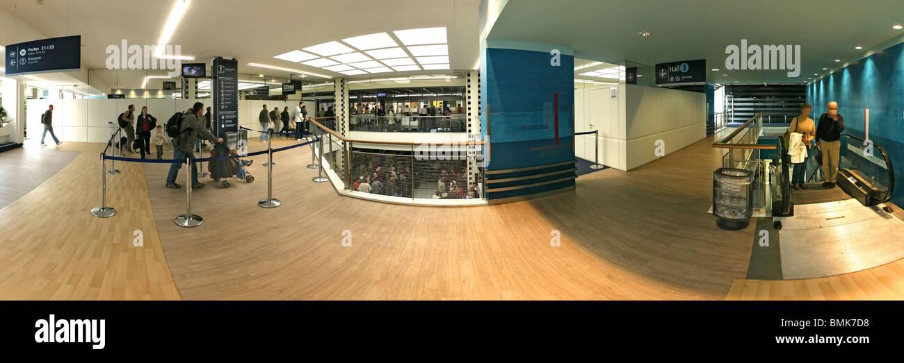 A terminal of Nantes Atlantique Airport - Stock Image