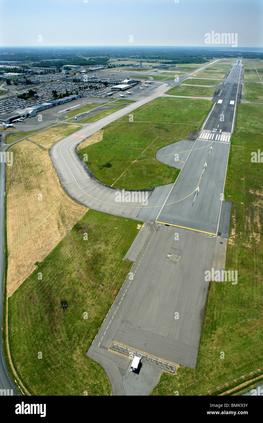 Nantes Atlantique Airport, aerial view - Stock Image