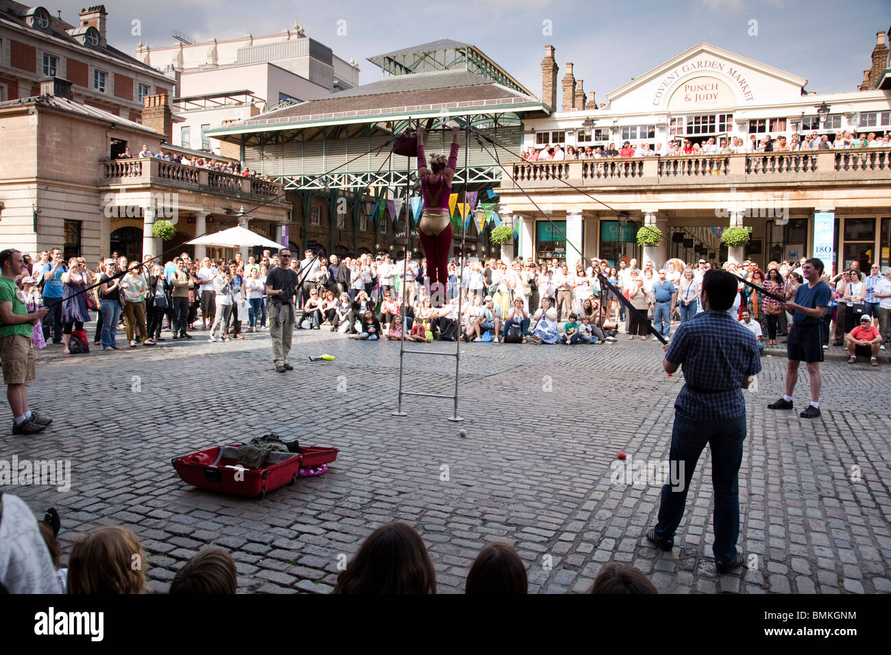 Street performers at Covent Garden London - Stock Image
