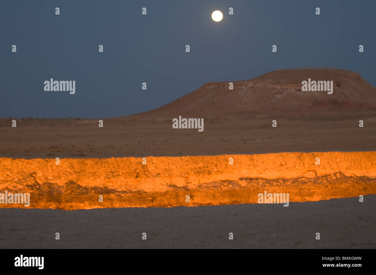 Darvaza Gas crater, Turkmenistan - Stock Image