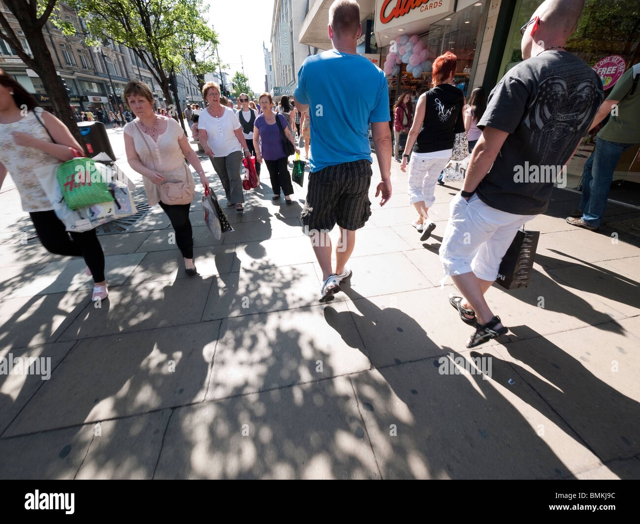 Shoppers in Oxford Street, London, England - Stock Image