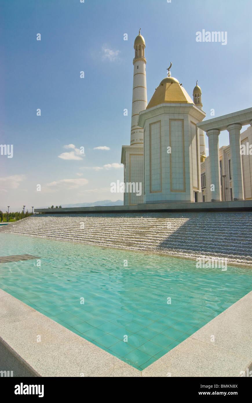 Turkmenbashi Ruhi Mosque, Turkmenistan - Stock Image