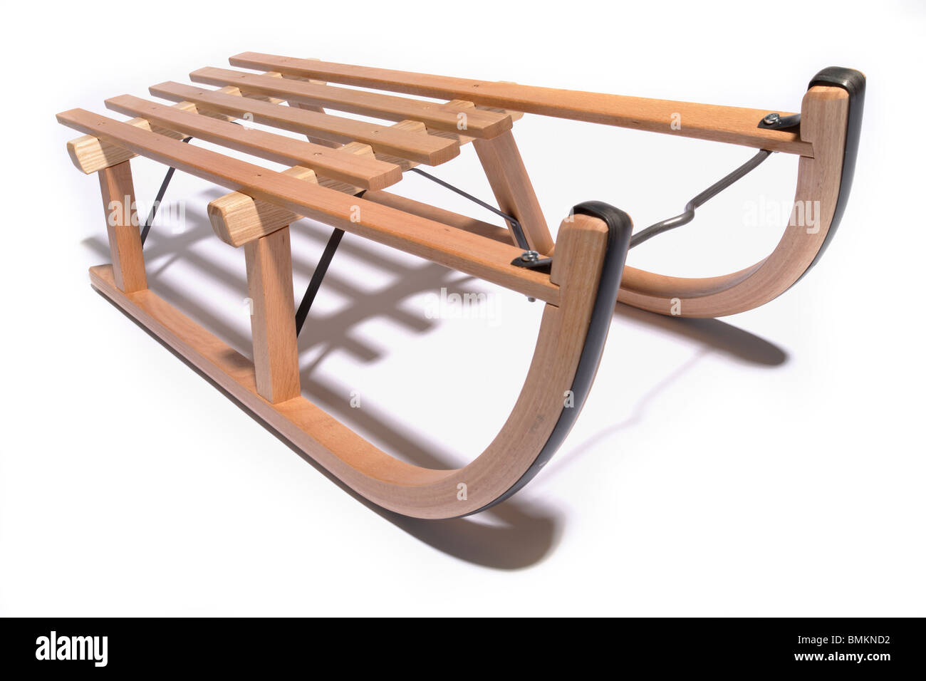 a sled or sledge on a white background - Stock Image