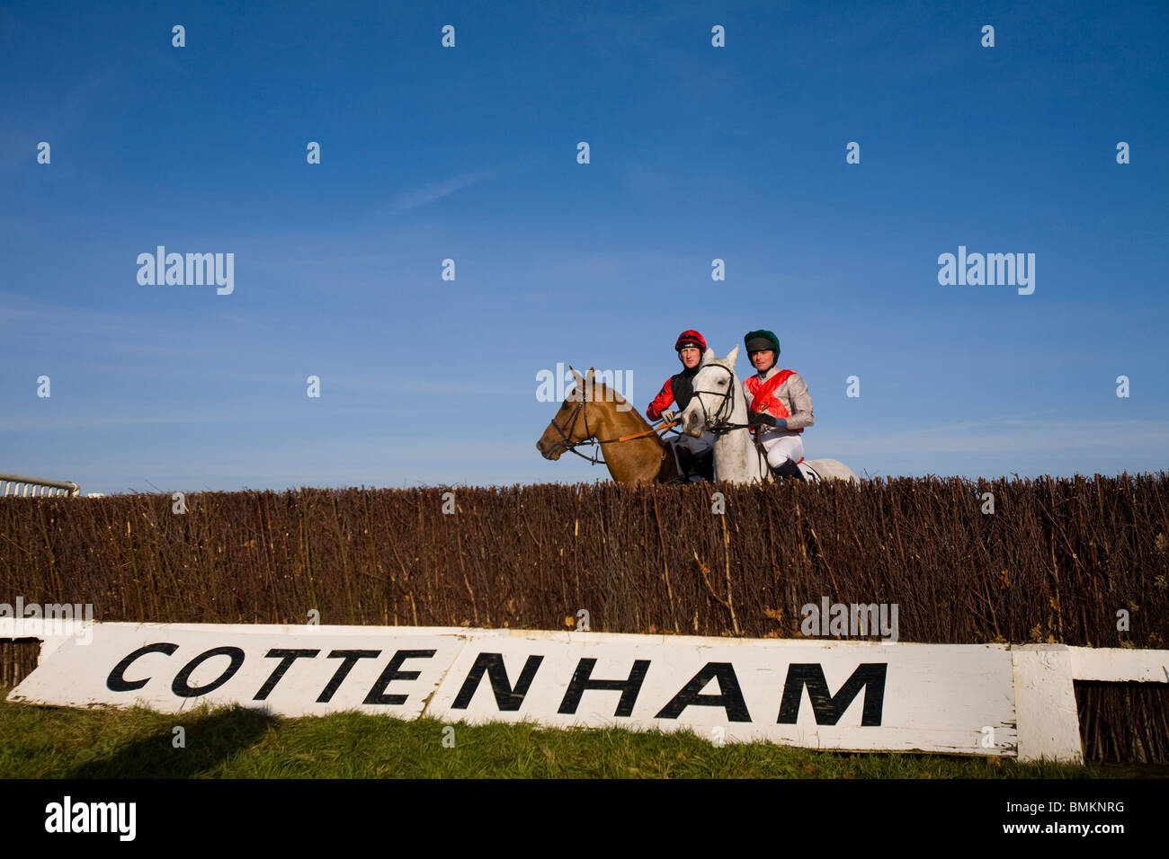 Point-to-Point Horse racing at Cottenham in Cambridgeshire Stock Photo