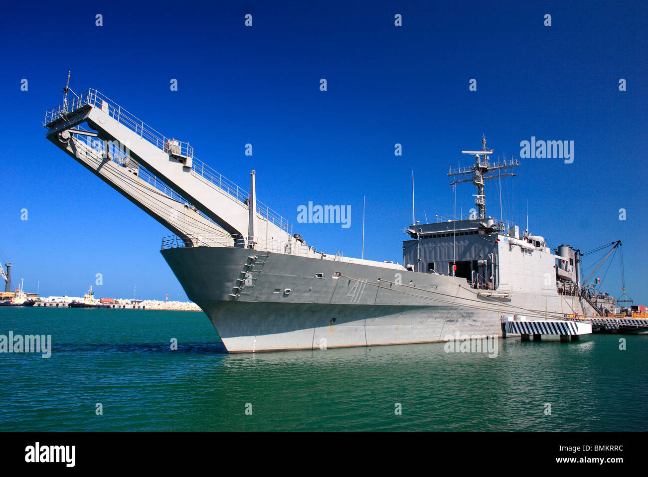 Ship ; Progresso ; Mexico - Stock Image
