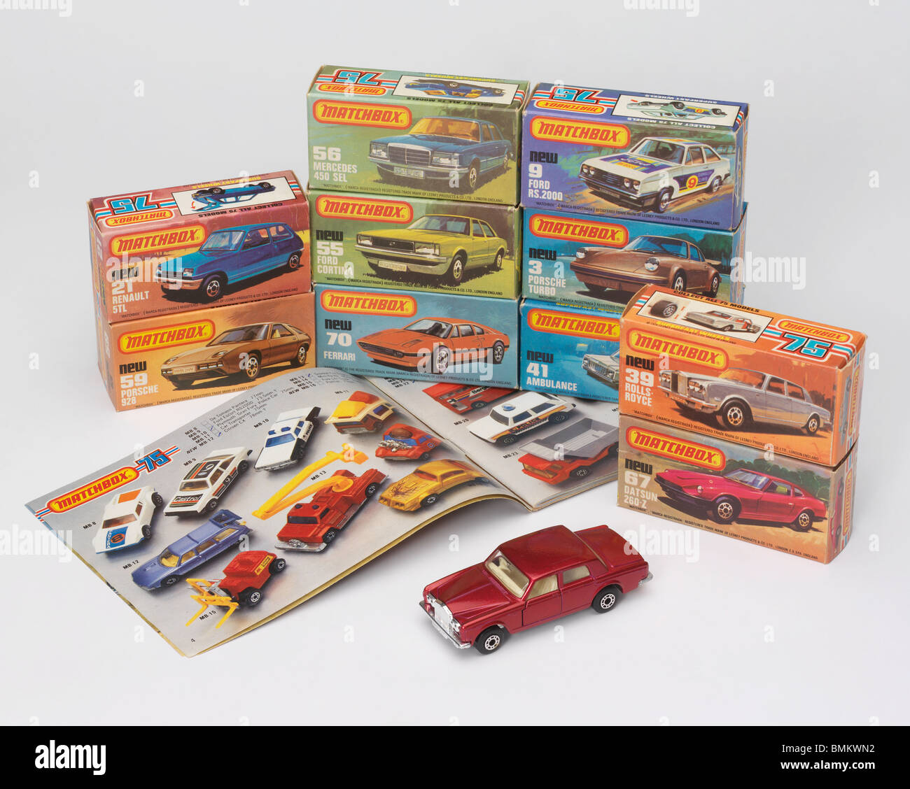 Toy cars from the late 1970's early 1980's Stock Photo