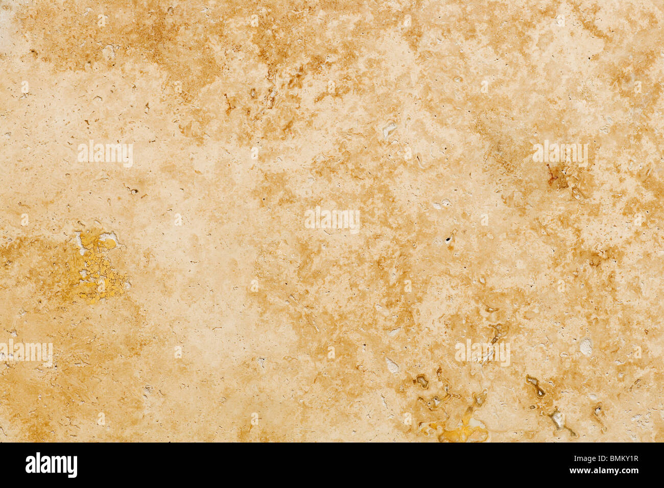 Travertine Stone Floor Tile Abstract Background Closeup - Stock Image