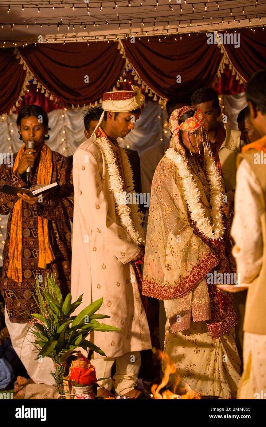 Hindi Wedding, Trou D' Eau Douce, Mauritius, Africa Stock Photo