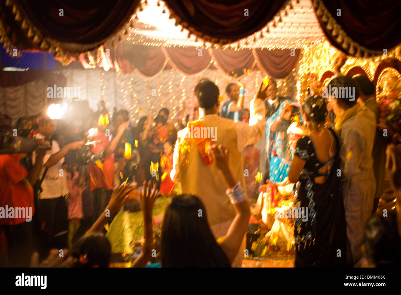 Hindi Wedding, Trou D' Eau Douce, Mauritius, Africa Stock Photo