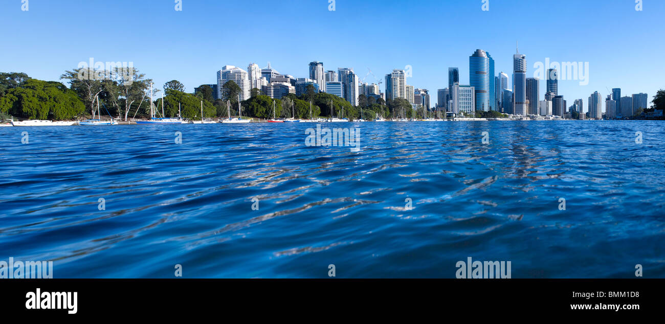 Brisbane panoramic cityscape - Stock Image