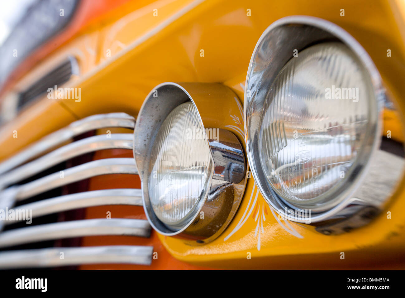 Detail of a bus in Malta Stock Photo