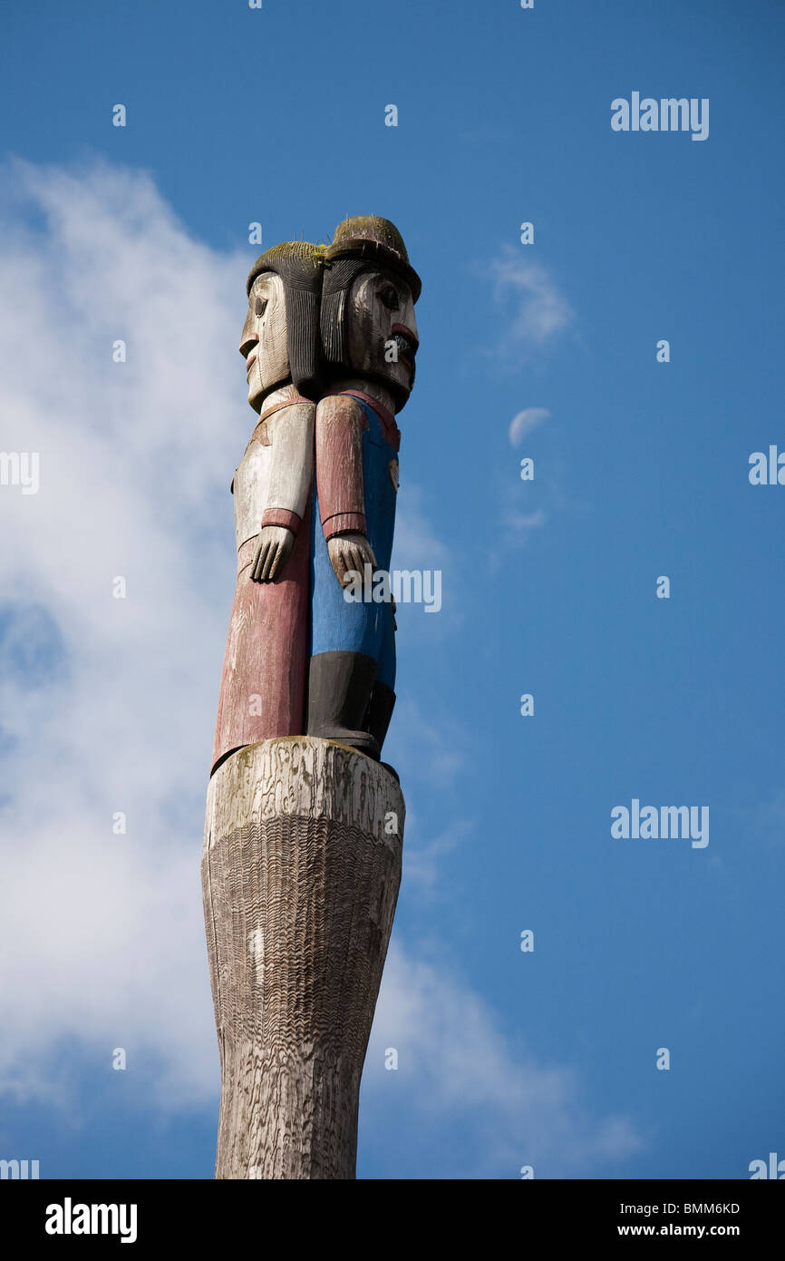 Totem Pole at Victor Steinbrueck Park - Seattle, Washington - Stock Image