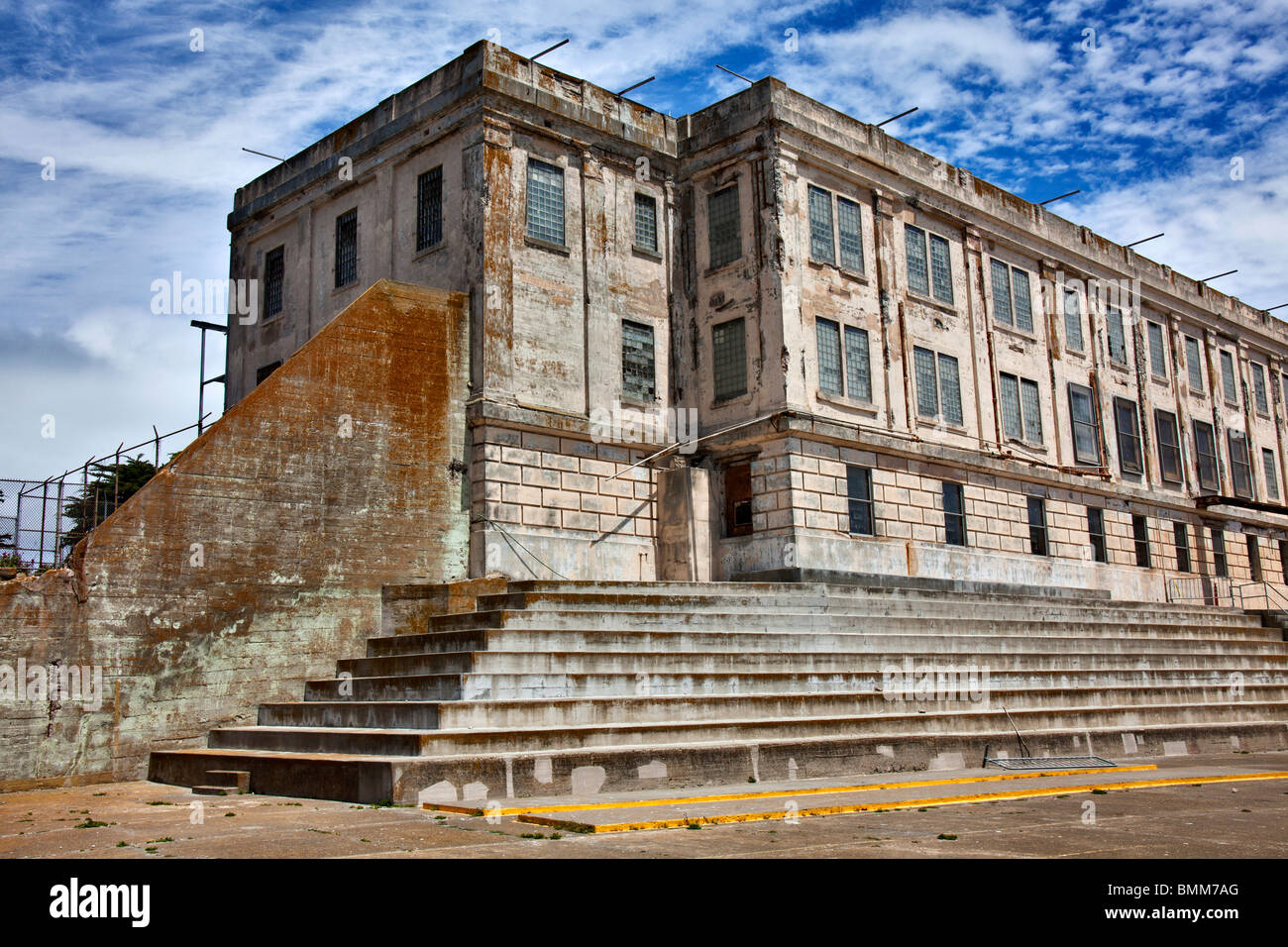 Alcatraz cellhouse and recreation yard Alcatraz island - Stock Image