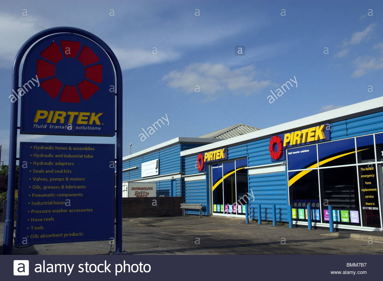 Business premises of Pirtek in Avonmouth, Bristol, UK. - Stock Image