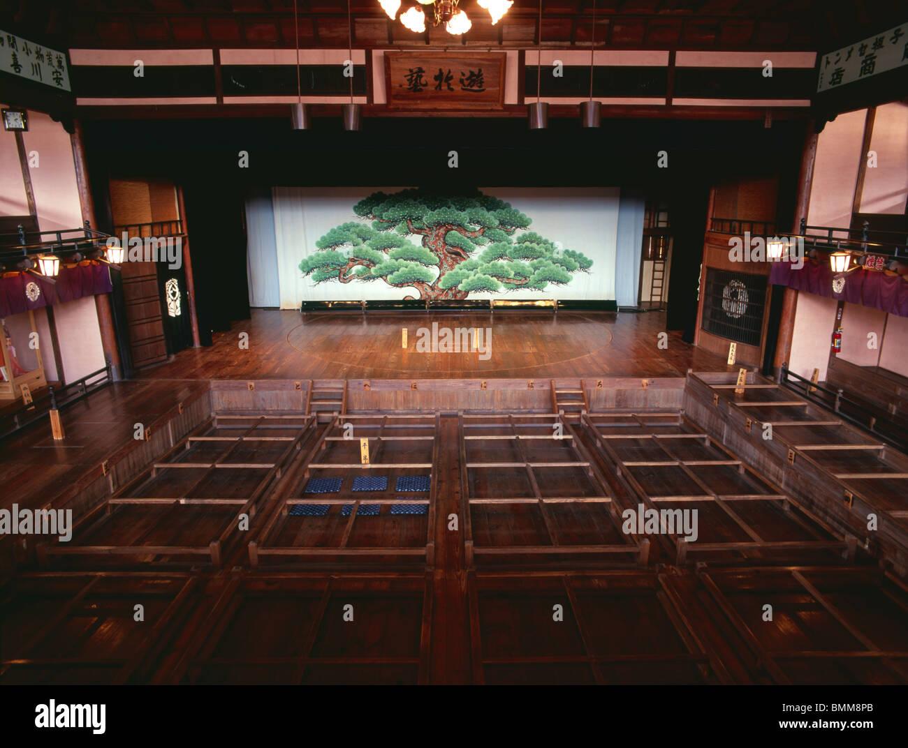 Uchiko-za Kabuki Theater - Stock Image