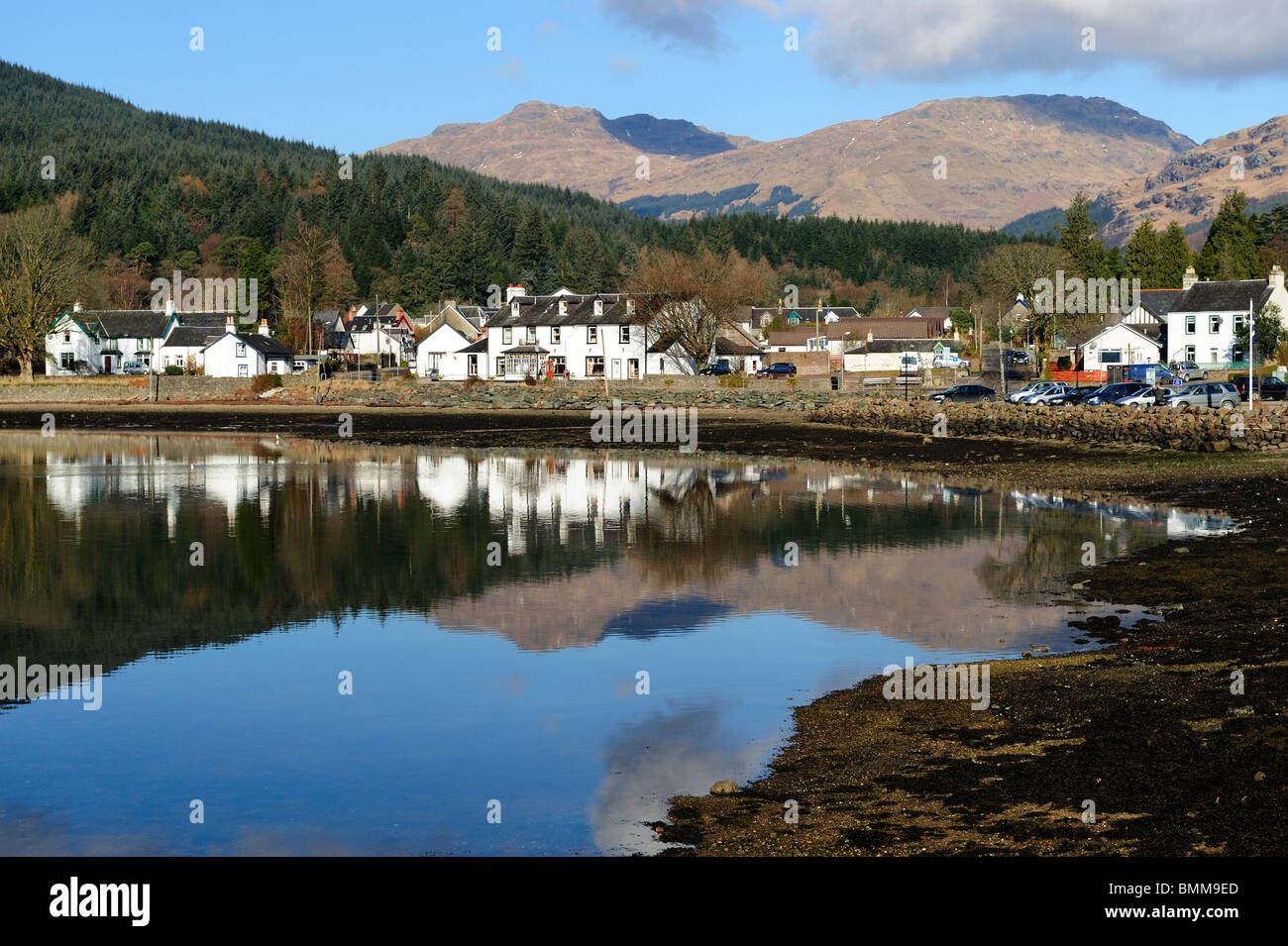 Lochgoilhead at the head of Loch Goil, Argyle and Bute, Scotland Stock Photo