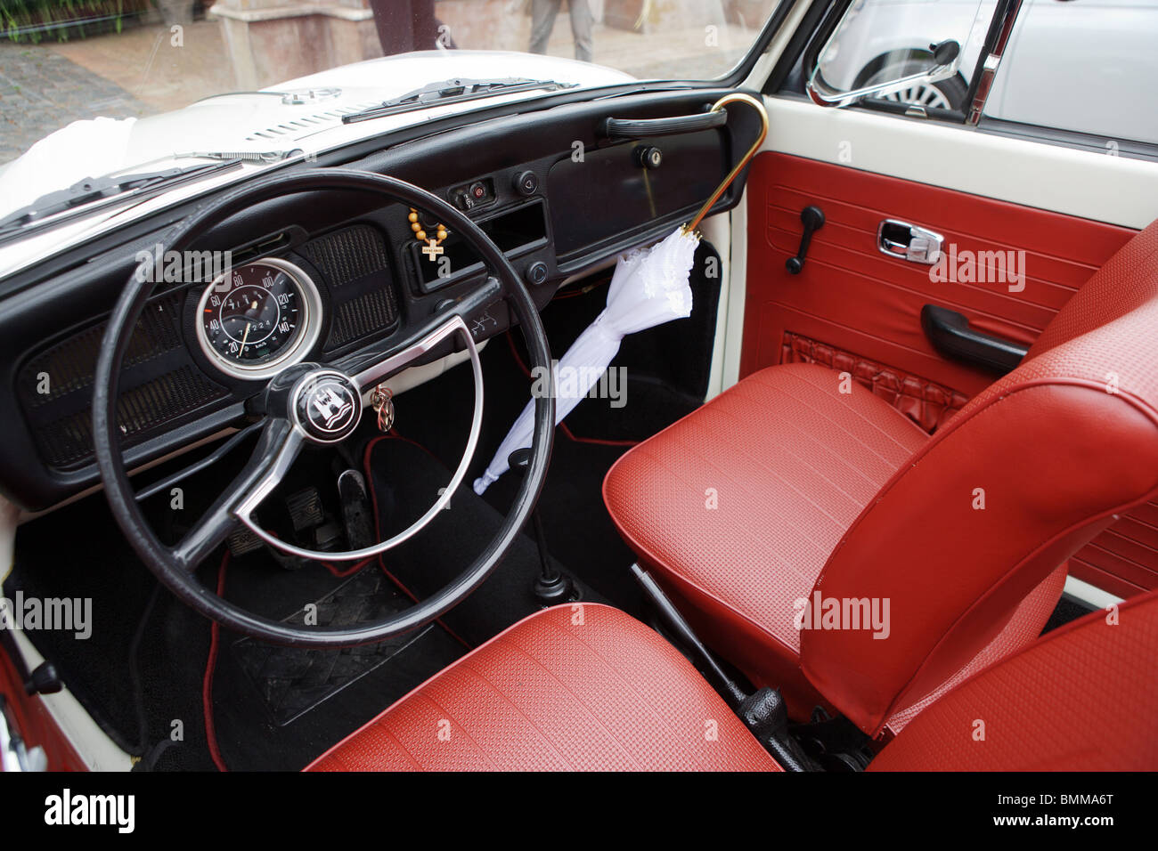 old car Volkswagen Beetle interior vintage collection spot Stock ...