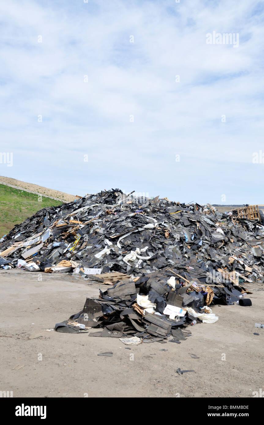 Pile of trash at landfill in Bourne, Massachusetts - Stock Image