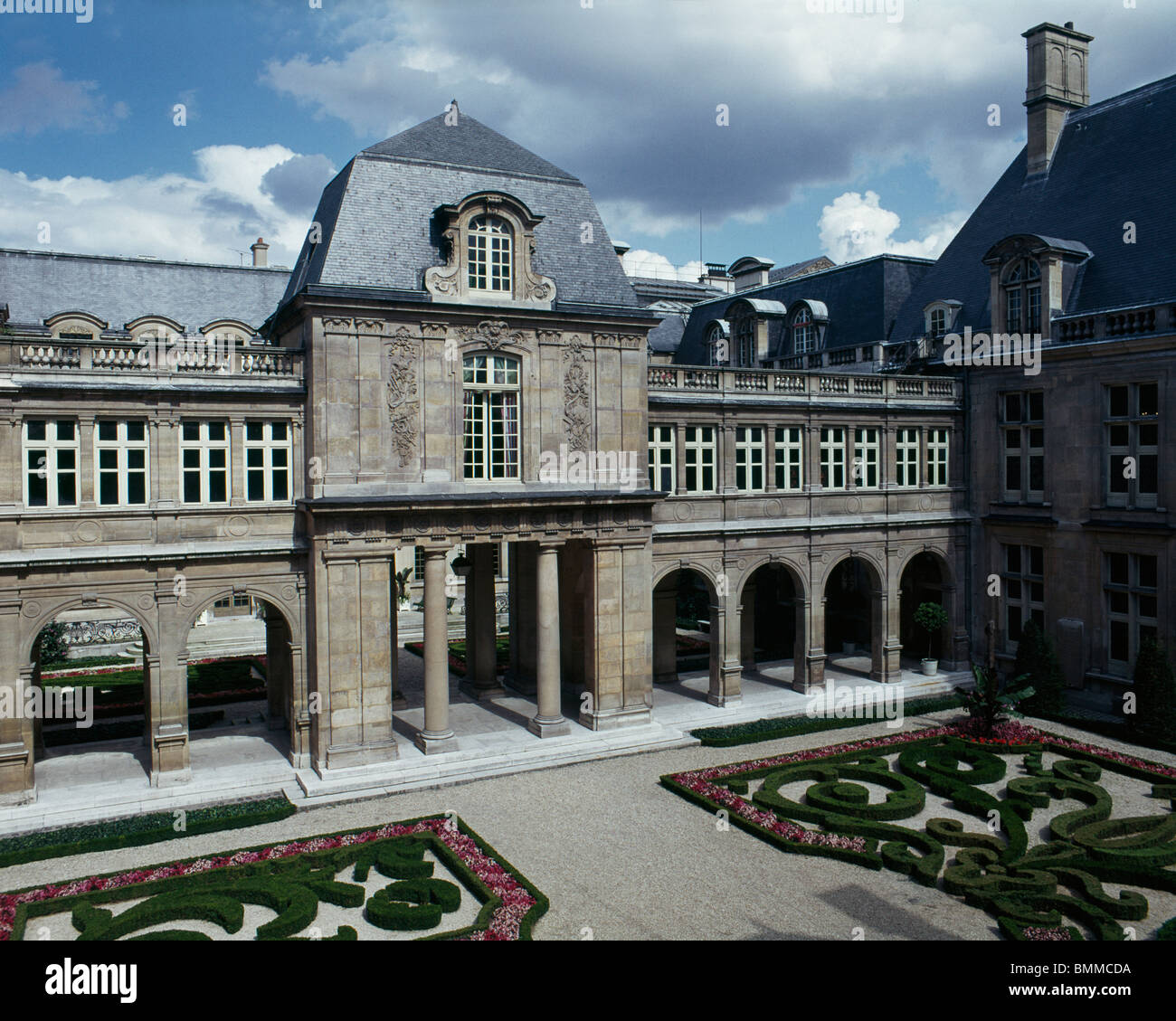 H™tel Le Pelletier de Saint-Fargeau, now Museum Carnavalet, Paris, France. By Francois Mansart 1655. - Stock Image