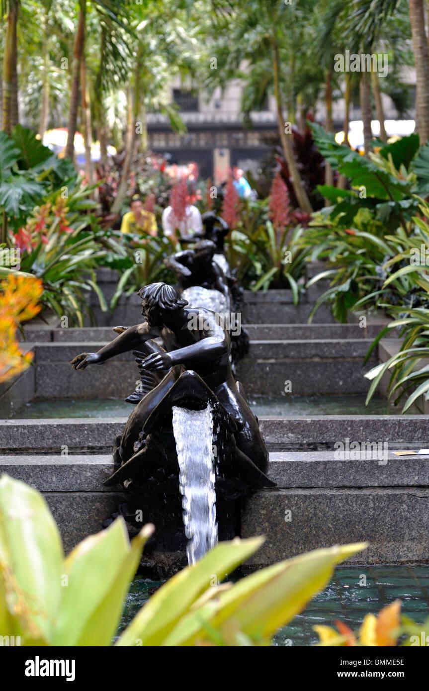 Channel Garden, Rockefeller Center, New York City, USA Stock Photo ...