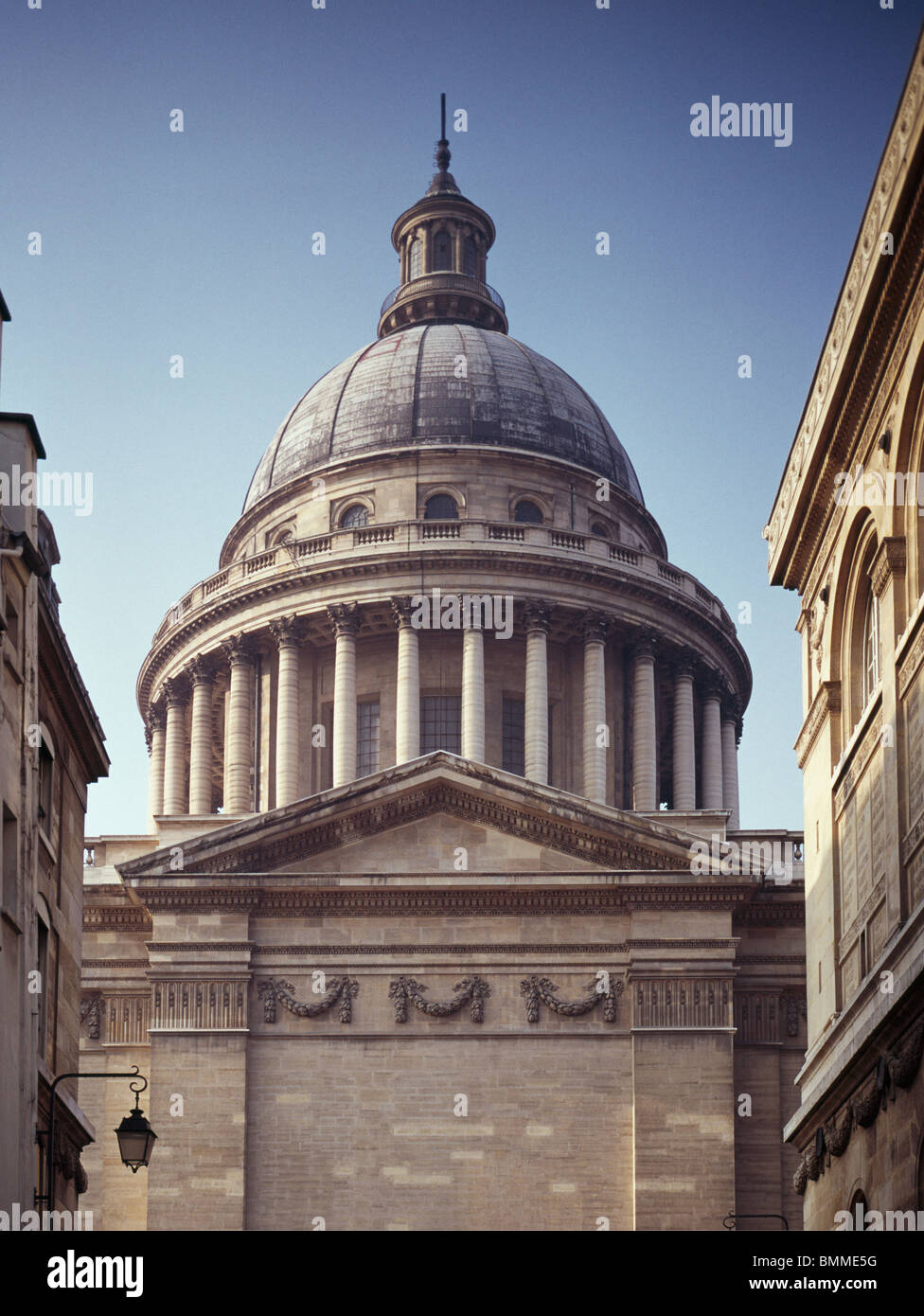 Dome of the Pantheon, Paris, France. Designed by Soufflot, built 1758+ as church of Sainte Genevieve. Stock Photo