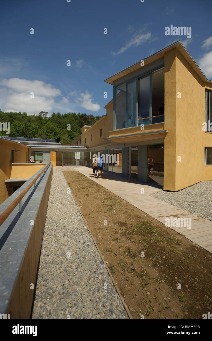 The new WISE building (Wales Centre for Sustainable Education) Centre for Alternative Technology, Wales UK - Stock Image