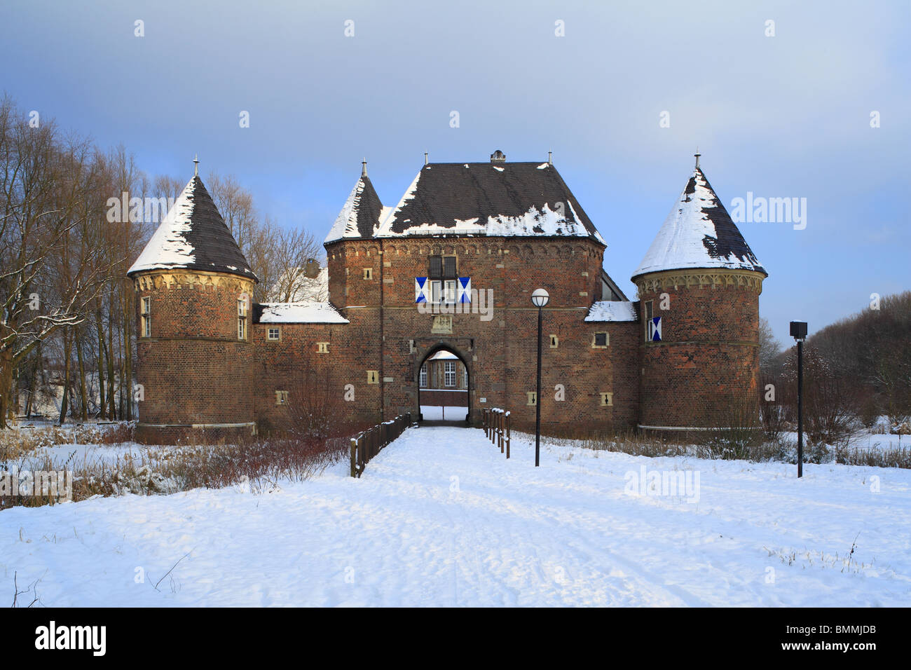 D-Oberhausen, Ruhr area, Lower Rhine, North Rhine-Westphalia, D-Oberhausen-Osterfeld, Castle Vondern, moated castle, - Stock Image