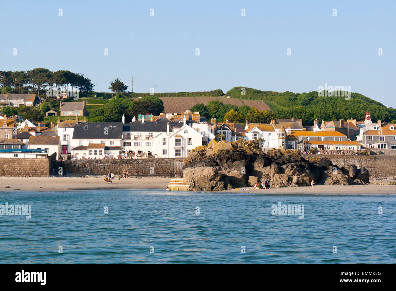 Marazion Cornwall photographed from the sea. - Stock Image