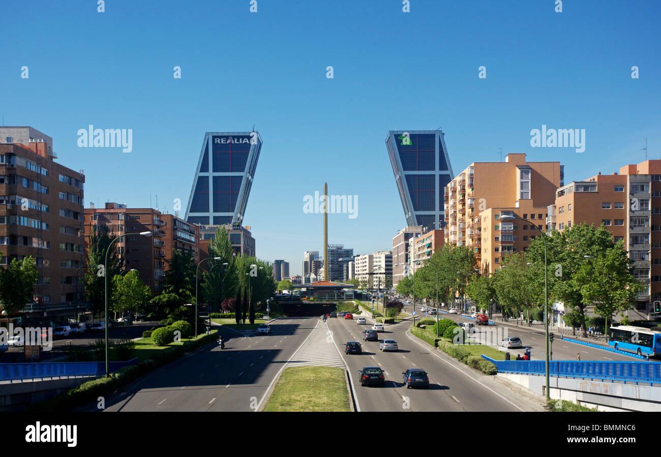 Puerta de Europa towers, Madrid, Spain - Stock Image