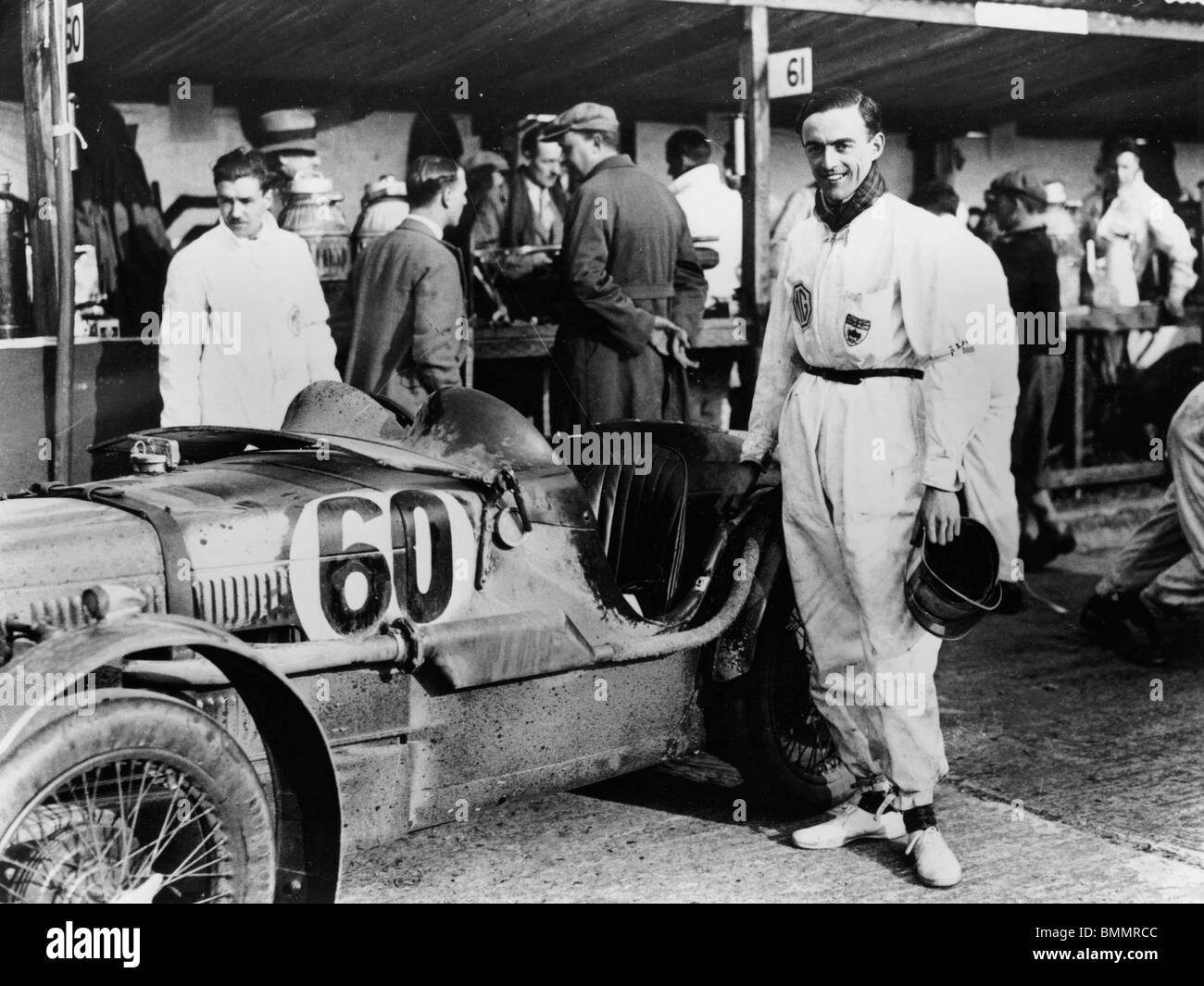 MG C type Midget with the Earl of March 1931 - Stock Image