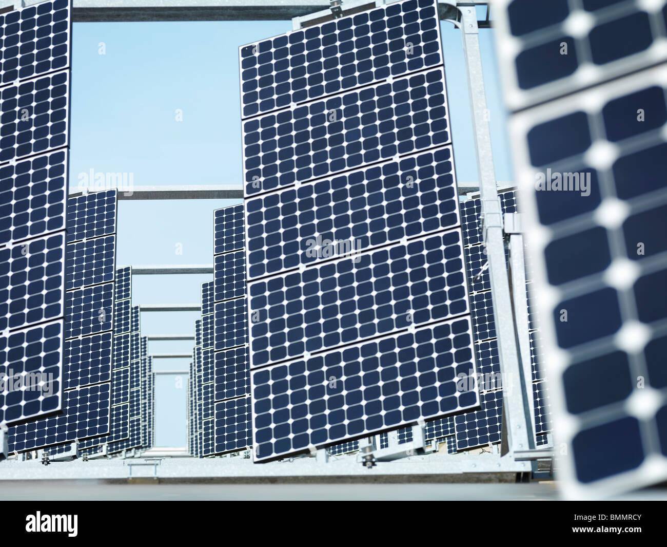 Solar power station front panels - Stock Image