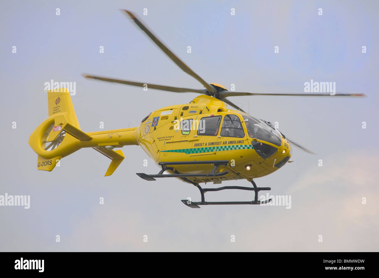 Dorset and Somerset Air Ambulance helicopter (Eurocopter EC 135 T2+) - Stock Image
