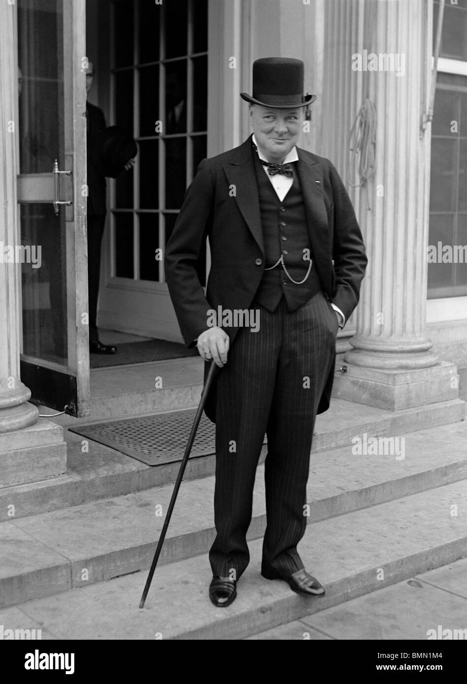 Vintage 1920s photo of Winston Churchill (1874 - 1965) - Conservative (formerly Liberal) statesman and twice UK - Stock Image